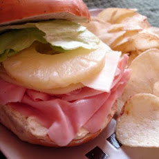Ham and Swiss Bagels