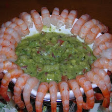 Shrimp Cocktail With Kiwi Daiquiri Guacamole