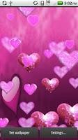 Screenshot of Pink Sparkle Hearts Live