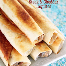 Chubby Steak and Cheddar Taquitos