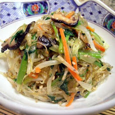 Korean Chap Chae (Vegetarian)