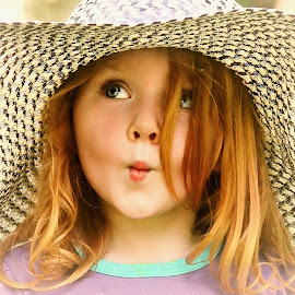 Pucker Up! by Cheryl Korotky - Babies & Children Child Portraits ( hats, puckered lips, a heartbeat in time photography, amazing faces, beautiful children, child model nevaeh, portrait,  )