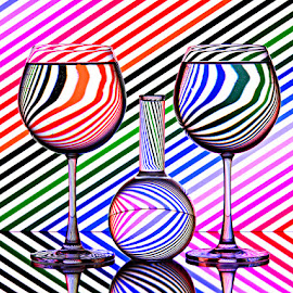 Colorful Lines by Rakesh Syal - Artistic Objects Still Life (  )