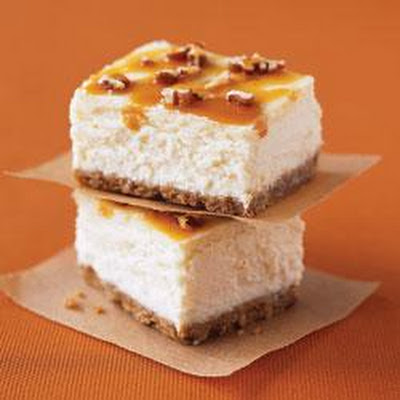 Double Caramel-Pecan Cheesecake Bars