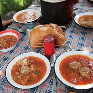 Ciorbă De Perisoare (Pork-and-Rice Meatball Soup)