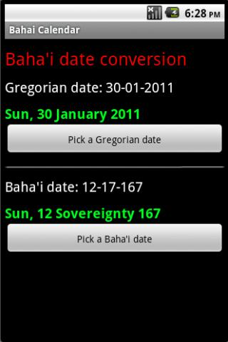 Bahai Calendar