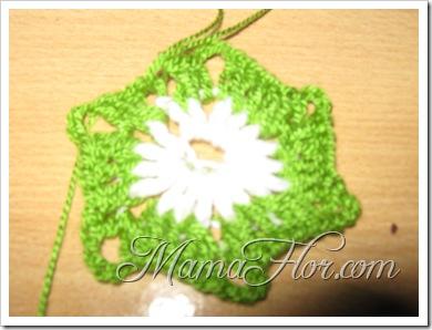 Tejidos a Crochet: Una Flor para Aplicación I...