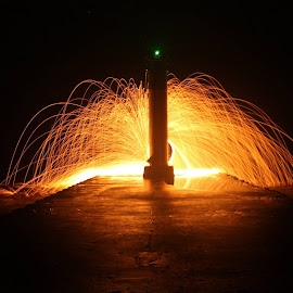 Lighting up the Lighthouse #steelwoolphotography by Jeff Vandewyngaerde - Abstract Fire & Fireworks