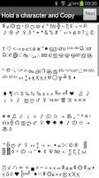 Screenshot of Keyboard Characters