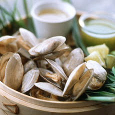 Steamers with Asian Broth and Cilantro Butter