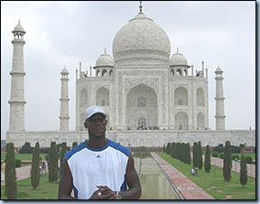 KG at the Taj Mahal in Agra India