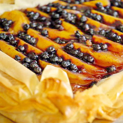 Blueberry Peach Phyllo Gallette