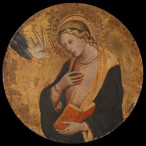 RIJKS: attributed to Lorenzo di Niccolò: Virgin Annunciate 1412