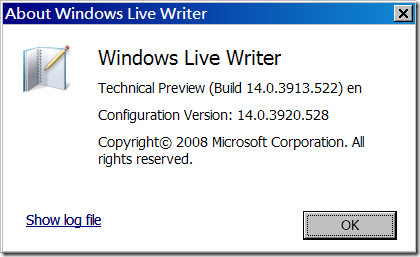 Windows Live Writer CTP