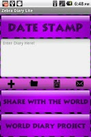 Screenshot of Purple Zebra Secret Diary WDP