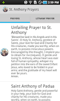 Screenshot of St. Anthony of Padua Prayers