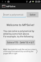Screenshot of MPSolve