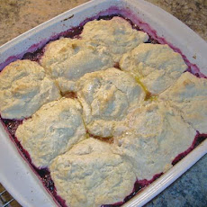 Red Raspberry Cobbler (Dairy Free)