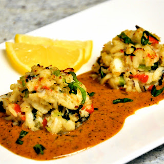 Crab Cakes with Cajun Lobster Sauce