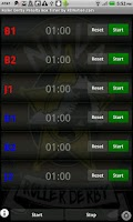 Screenshot of Roller Derby Penalty Timer