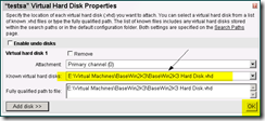Virtual Server 2005 R2 - add existing VHD