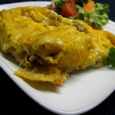 Chicken or Turkey-Mushroom Enchiladas
