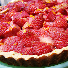 Baked Orange Custard With Strawberries