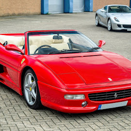 F355 Spider and 599 GTB by Sergiusz Rydosz - Transportation Automobiles ( supercars, 599, ferrari, gtb, f355 )