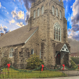 Methodist Church, very Beautiful !! by Linda Blevins - Buildings & Architecture Places of Worship