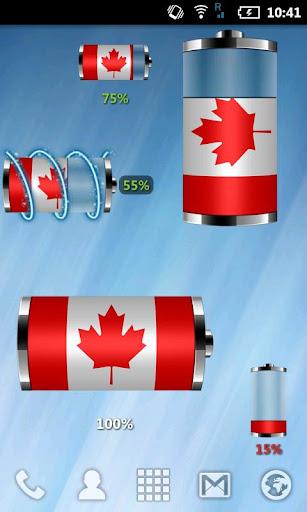 Canada : フラグバッテリウィジェット