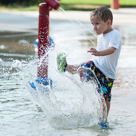 Water Fight! by Aj Nelson - Babies & Children Children Candids