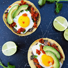 Black Bean Mash Breakfast Tostadas