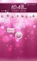 Screenshot of Pink Christmas Go Locker Theme
