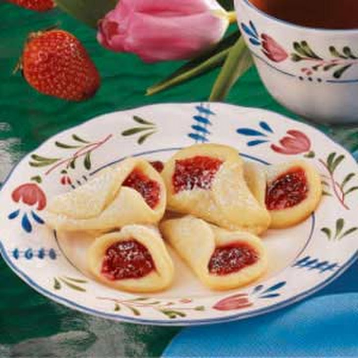 Strawberry Wedding Bell Cookies