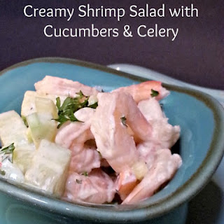 Creamy Shrimp Salad with Cucumber and Celery