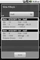 Screenshot of Mileage Tracker