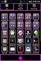 Screenshot of Black-N-Pink Go Launcher Theme