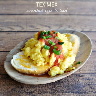 Tex Mex Scrambled Eggs on Toast