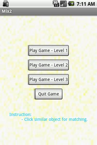 Matching Object Game