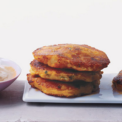 Ecuadoran Potato Cakes with Peanut Sauce
