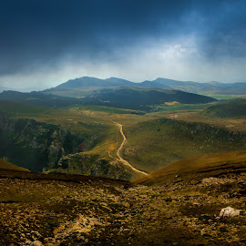 The road ahead by Adrian Ioan Ciulea - Landscapes Mountains & Hills ( clouds, hills, mountain, road, landscape )