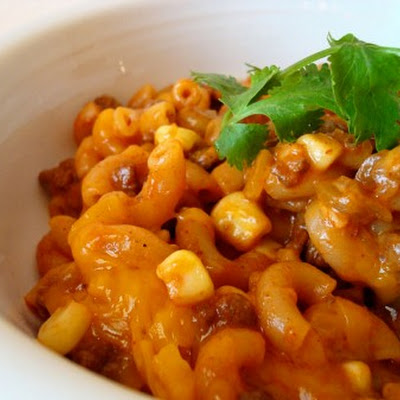 Skillet Chili Mac with Corn and Green Chiles