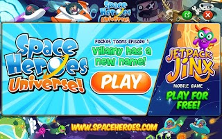 Screenshot of Space Heroes Pocket Toons
