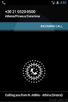 Screenshot of Greek Caller ID