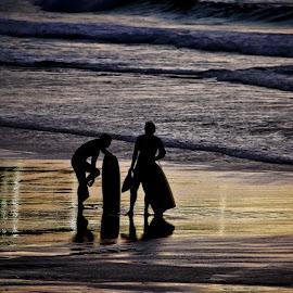 after surf sunset by Magdalena Wysoczanska - Landscapes Sunsets & Sunrises