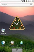Screenshot of snooker clock widget
