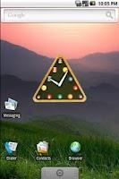 Screenshot of snooker clock widget