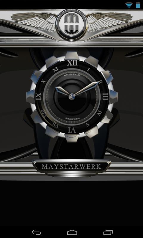 Clock Widget Black Panther Screenshot 1