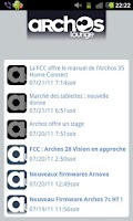 Screenshot of Le Flux RSS d'ArchosLounge