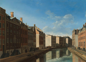 RIJKS: Gerrit Adriaensz. Berckheyde: The 'Golden Bend' in the Herengracht, Amsterdam, Seen from the East 1672